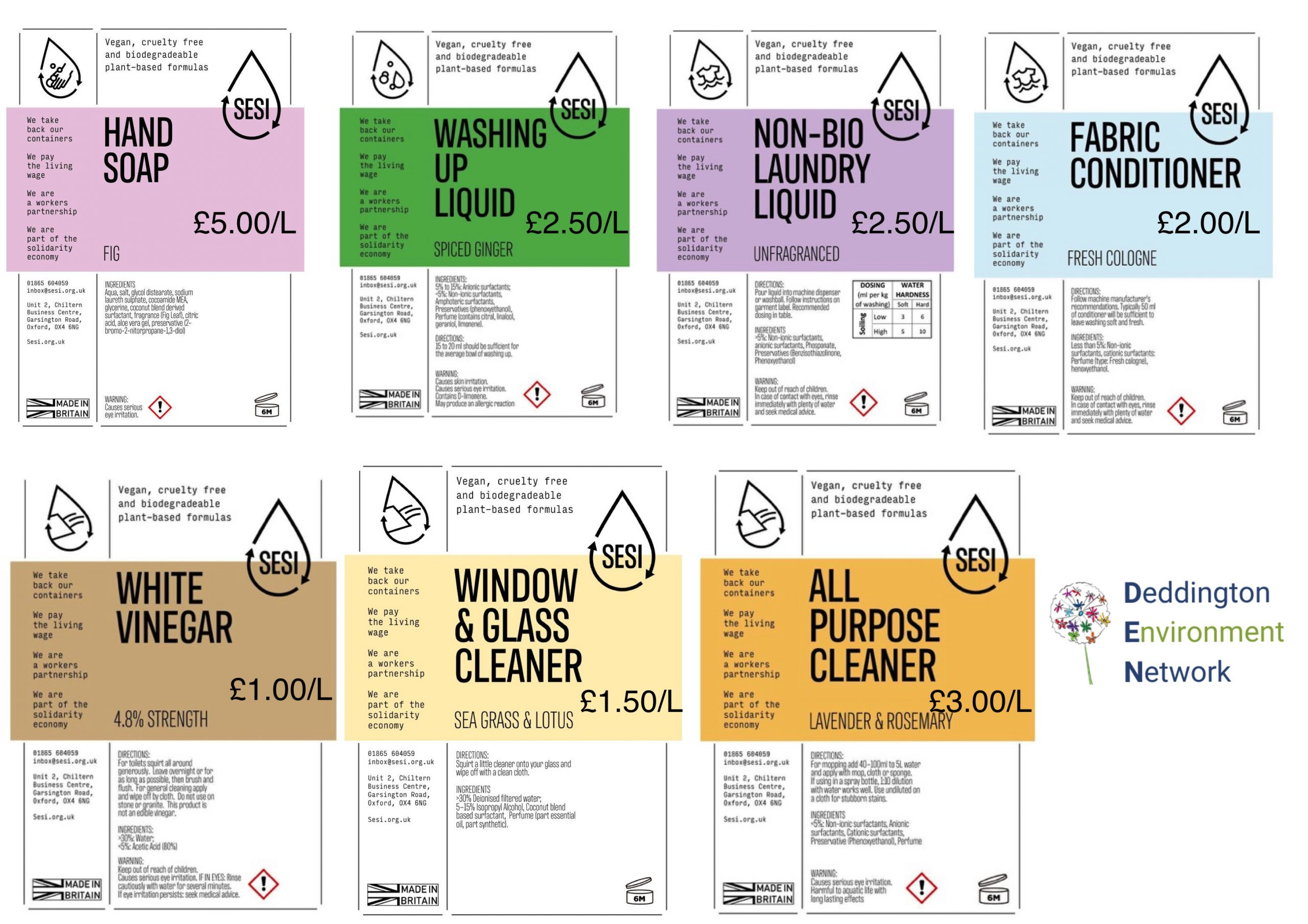 price of detergents